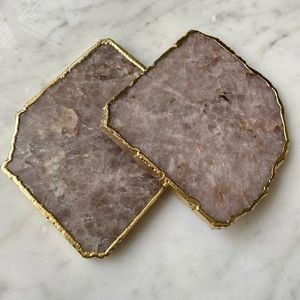 Anthropologie Agate Coasters (set of 2)